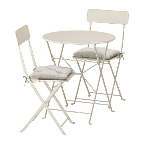 Sedie Pieghevoli Da Giardino Ikea.Saltholmen Tavolo 2 Sedie Pieghevoli Giardino Saltholmen Beige