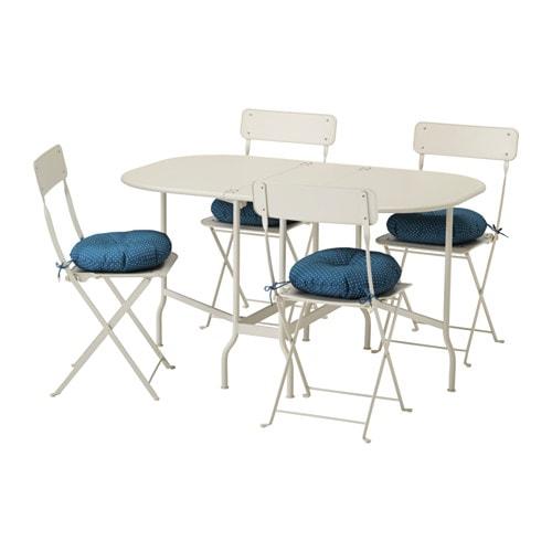 Saltholmen tavolo 4 sedie pieghevoli giardino saltholmen beige ytter n blu ikea - Ikea sedie giardino ...