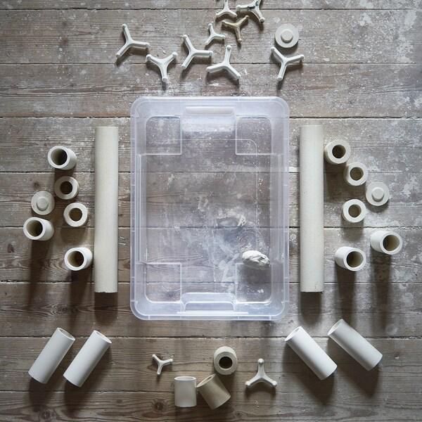 SAMLA contenitore trasparente 39 cm 28 cm 14 cm 11 l