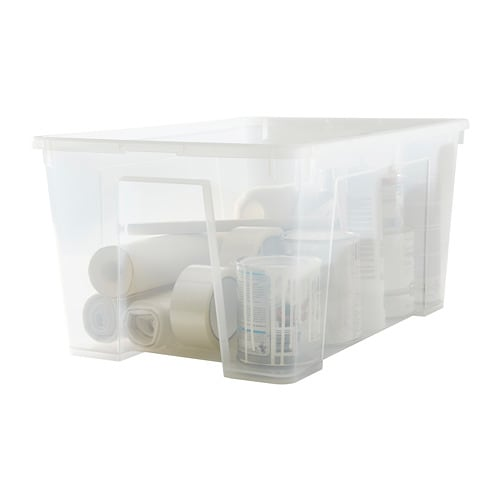 Samla Contenitore Con Coperchio 57x39x28 Cm 45 L Ikea