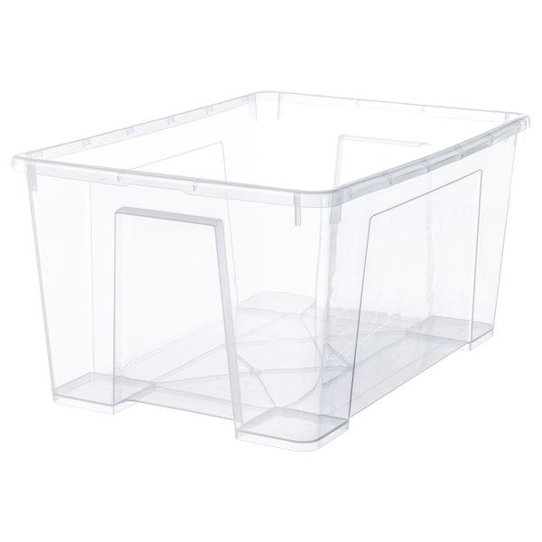SAMLA Contenitore, trasparente, 56x39x28 cm/45 l