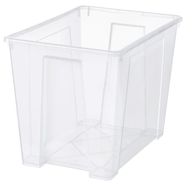 SAMLA Contenitore, trasparente, 56x39x42 cm/65 l