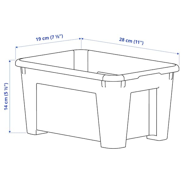 SAMLA Contenitore, trasparente, 28x19x14 cm/5 l