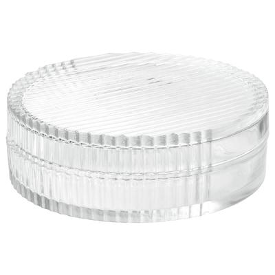 SAMMANHANG Scatola in vetro con coperchio, vetro trasparente, 6 cm