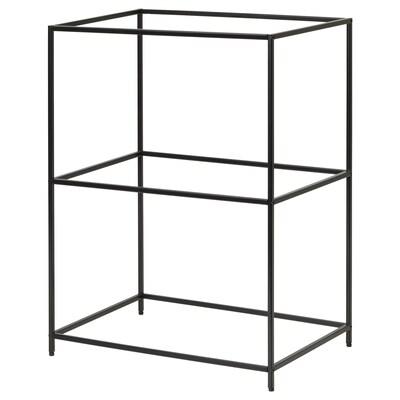 SAMMANHANG Supporto per vassoi, nero, 28x20x39 cm