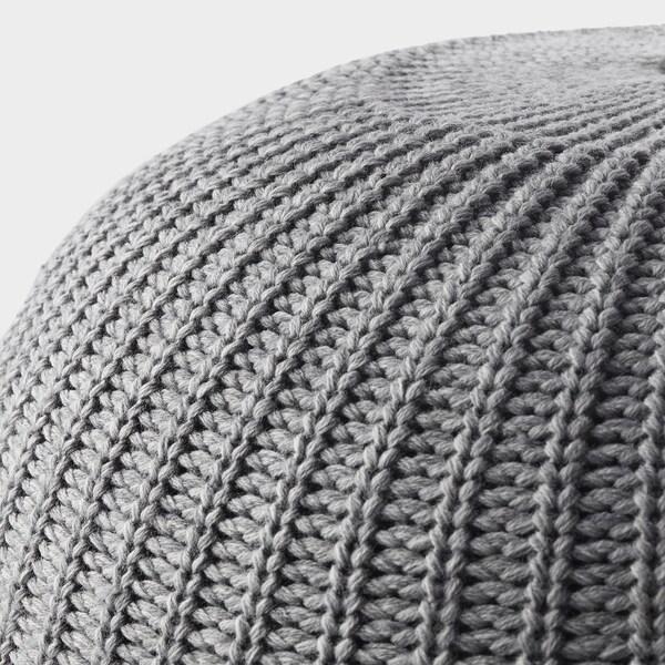 SANDARED Pouf, grigio, 56 cm