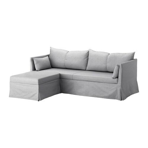 SANDBACKEN Divano angolare a 3 posti - Frillestad grigio chiaro - IKEA