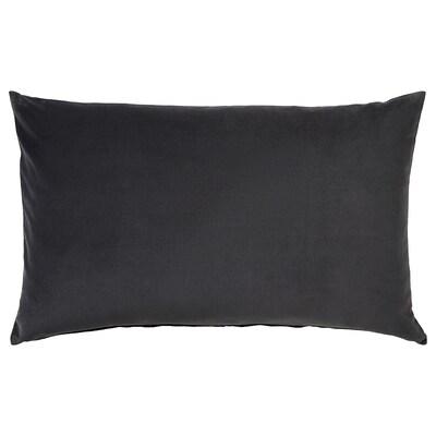 SANELA Fodera per cuscino, grigio scuro, 40x65 cm