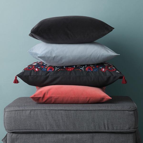 SANELA Fodera per cuscino, grigio scuro, 50x50 cm