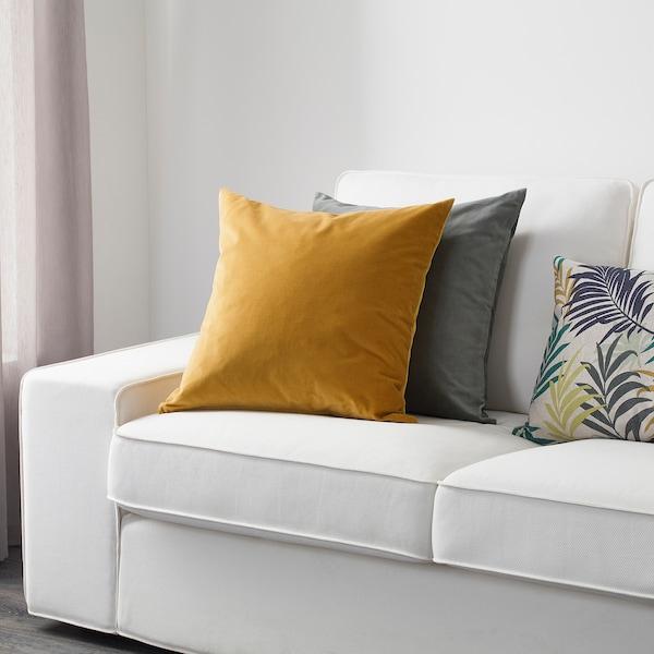 SANELA Fodera per cuscino, ocra bruna, 50x50 cm