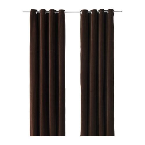 Sanela tenda 2 teli ikea for Tende color marrone
