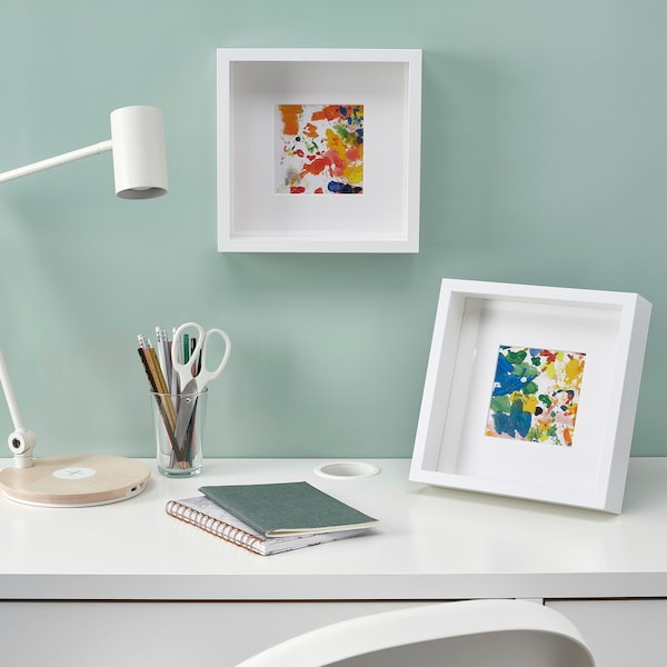 SANNAHED Cornice, bianco, 25x25 cm