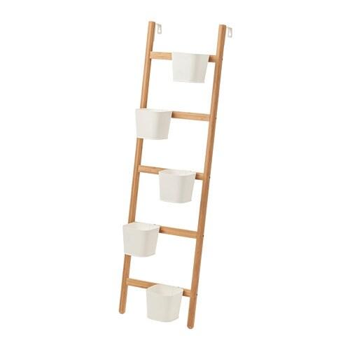 Satsumas supporto da parete con 5 portavasi ikea - Portaoggetti da parete ikea ...