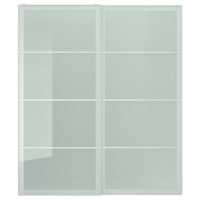 SEKKEN Coppia di ante scorrevoli, vetro smerigliato, 200x236 cm