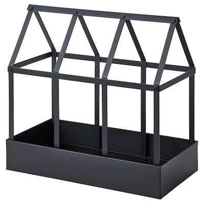 SENAPSKÅL Serra decorativa, da interno/esterno nero, 34 cm