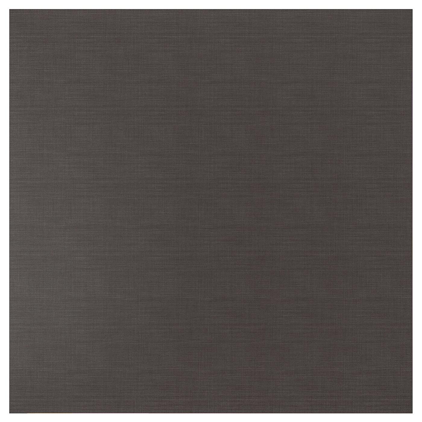 Tappeti Bagno Su Misura Torino sibbarp rivestimento da parete su misura - grigio scuro effetto lino,  laminato 1 m²x1.3 cm