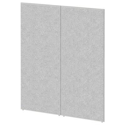 SIDORNA Paravento, grigio, 80x195 cm