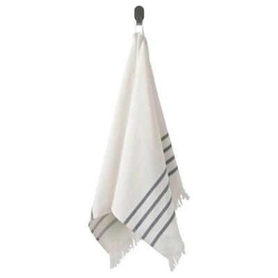 SIESJÖN Asciugamano, bianco/blu a righe, 50x100 cm