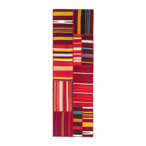 SILKEBORG Tappeto, tessitura piatta - a righe - IKEA