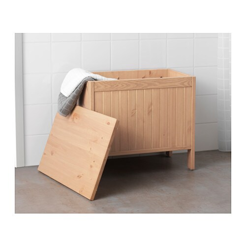 Silver n panca con vano contenitore marrone chiaro ikea - Ikea panca contenitore ...