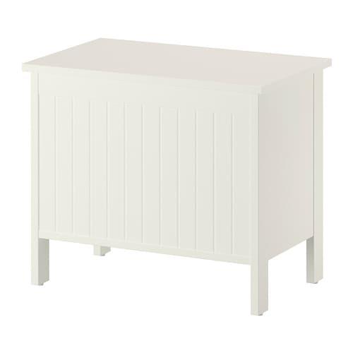 SILVERÅN Panca con vano contenitore - bianco - IKEA