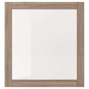 Colore: Effetto noce mordente grigio/vetro trasparente.