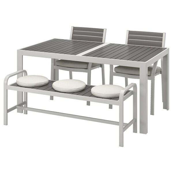 Ikea Tavoli Da Esterno.Sjalland Tavolo 2 Sedie Panca Da Giardino Grigio Scuro Froson