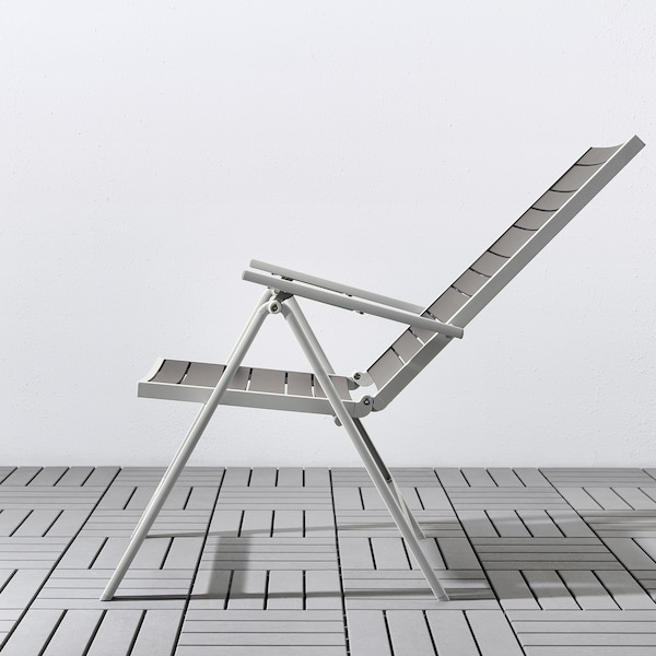 SJÄLLAND tavolo+6 sedie relax, da giardino grigio scuro/Frösön/Duvholmen beige 156 cm 90 cm 73 cm