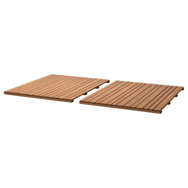 Ikea Tavoli Da Esterno.Sjalland Piano Tavolo Da Esterno Marrone Chiaro 85x72 Cm Ikea