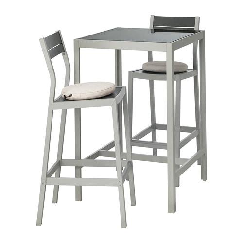 Ikea Catalogo Tavoli Da Esterno.Sjalland Tavolo E 2 Sgabelli Bar Da Esterno Sjalland Vetro Froson