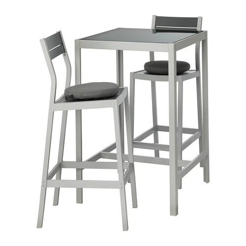Ikea Tavoli Di Vetro.Sjalland Tavolo E 2 Sgabelli Bar Da Esterno Sjalland Vetro Froson