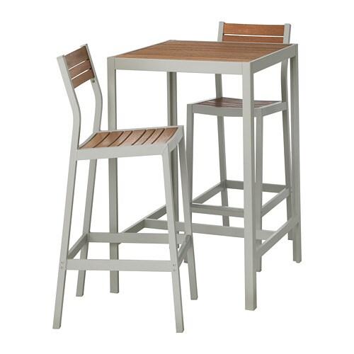 Tavoli Piccoli Da Esterno Ikea.Sjalland Tavolo E 2 Sgabelli Bar Da Esterno Sjalland Marrone