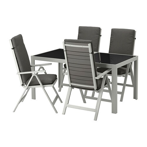 Tavoli E Sedie Da Terrazzo Ikea.Sjalland Tavolo 4 Sedie Relax Da Giardino Sjalland Vetro Froson