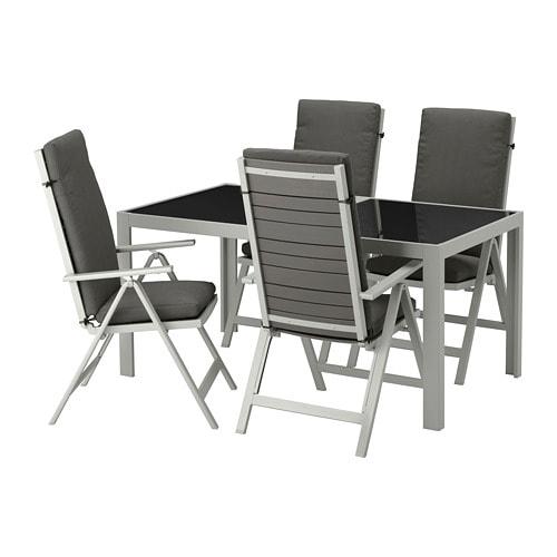 Catalogo Tavoli Da Giardino Ikea.Sjalland Tavolo 4 Sedie Relax Da Giardino Sjalland Vetro Froson