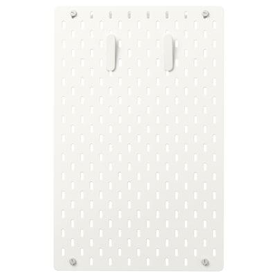 SKÅDIS Combinazione pannello portaoggetti, bianco, 36x56 cm