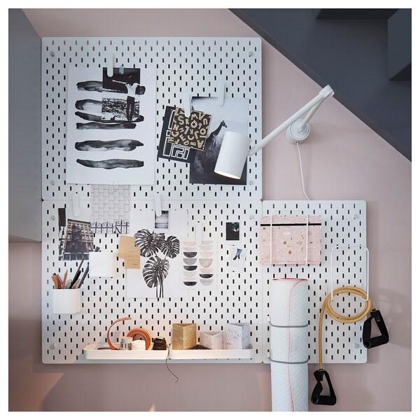 SKÅDIS Pannello portaoggetti, bianco, 76x56 cm