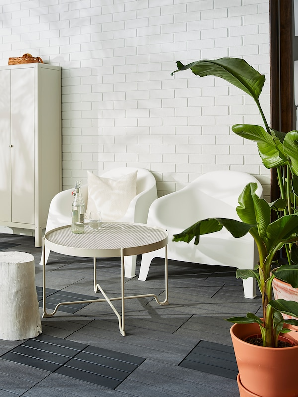 SKARPÖ Poltrona da giardino, bianco