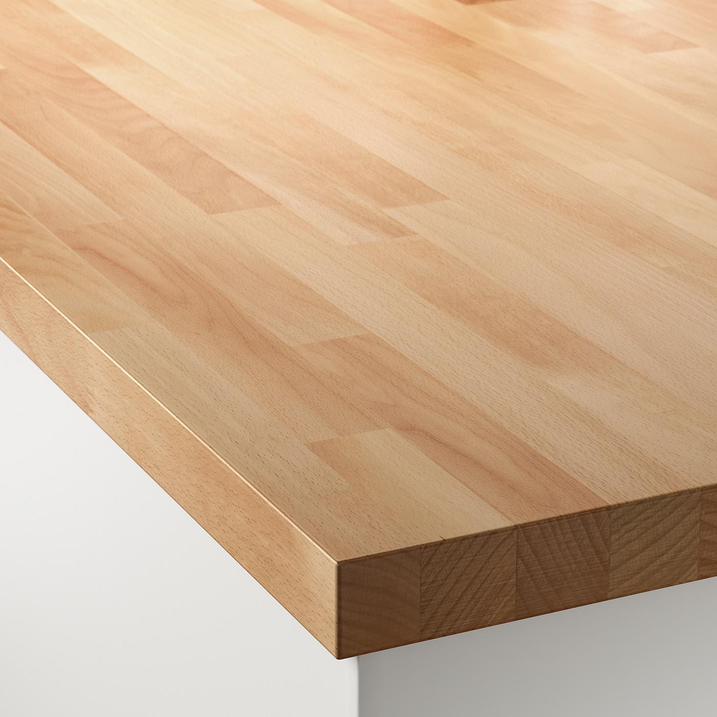 Tappeti Bagno Su Misura Torino skogarp piano di lavoro su misura - faggio, legno massiccio 63.6-125x4.0 cm