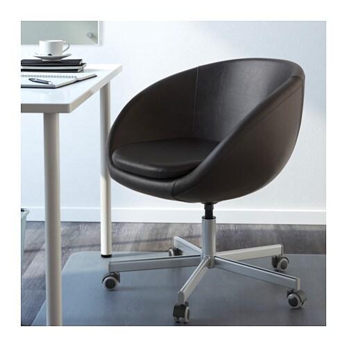 Skruvsta sedia da ufficio idhult nero ikea - Sedia rotelle ikea ...