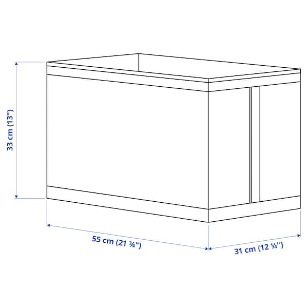 SKUBB Contenitore, bianco, 31x55x33 cm