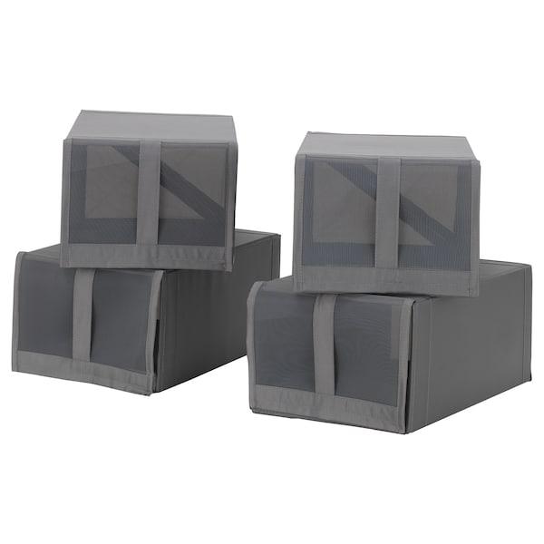 SKUBB Scatola per scarpe, grigio scuro, 22x34x16 cm