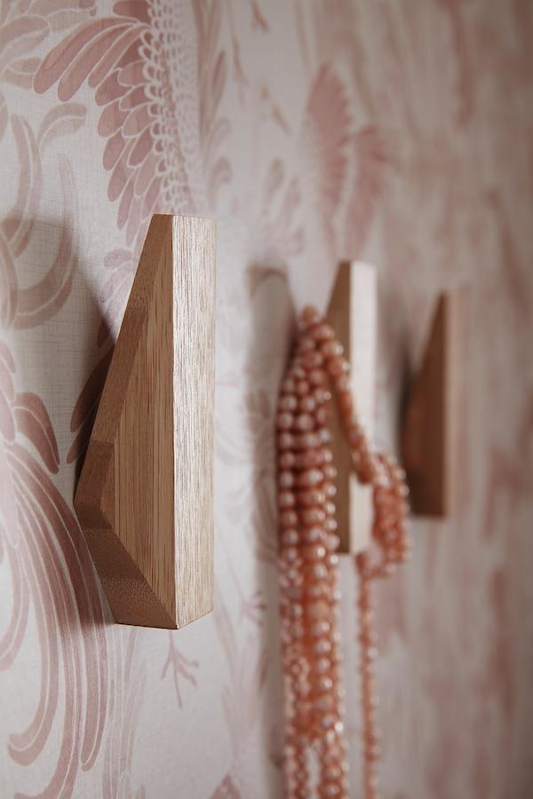 SKUGGIS Gancio, bambù, 6.4x11 cm