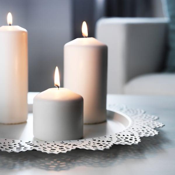 SKURAR base per candela bianco 37 cm