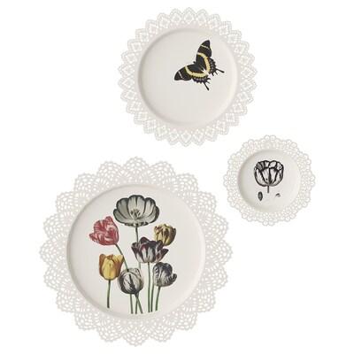 SKURAR Set di 3 decorazioni da parete, Tulipani