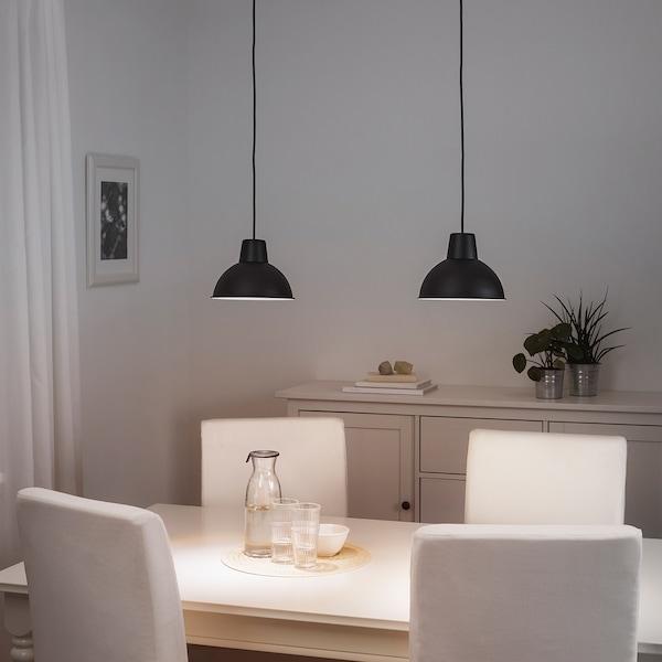 SKURUP Lampada a sospensione, nero, 19 cm