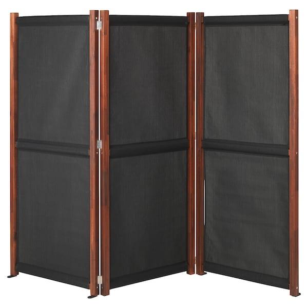 SLÄTTÖ Separé da giardino, nero/mordente marrone, 211x170 cm