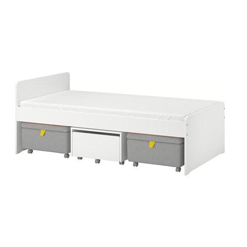SLÄKT Struttura letto/contenitore/sedute - IKEA