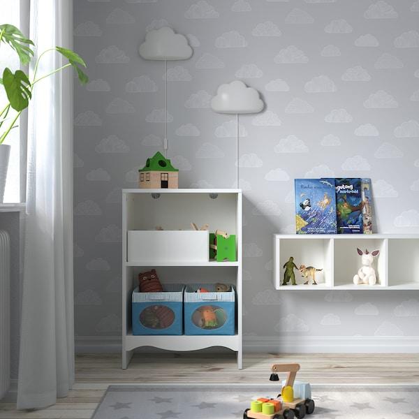 SMÅGÖRA Fasciatoio/libreria con 1 scaffale, bianco