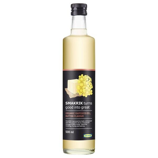 SMAKRIK Olio di colza, al gusto di burro biologico, 500 ml