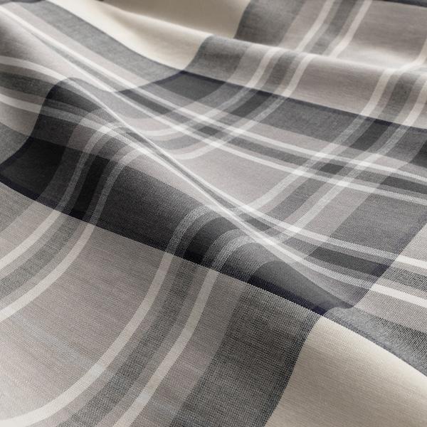 SMALRUTA Copripiumino e federa, grigio/a quadri, 150x200/50x80 cm